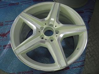 メルセデスベンツ C63AMGクーぺ ホイール塗装